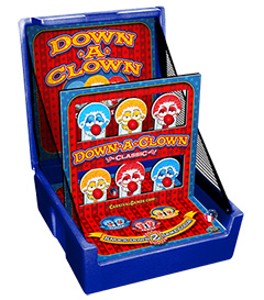 Blue Down A Clown Knockdown Carnival Case Game Without Legs