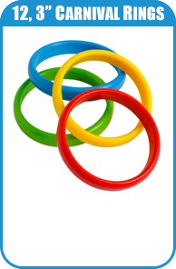 12 3-Inch Carnival Rings For Carnival Game