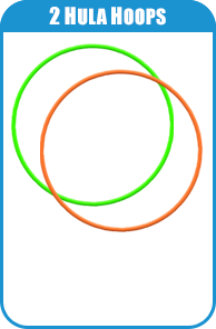 2 Hula Hoops For Carnival Game