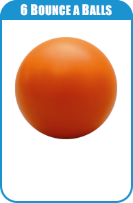 6 Orange Bounce Balls For Carnival Game