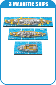 Set Of Magnetic Ships For Carnival Game